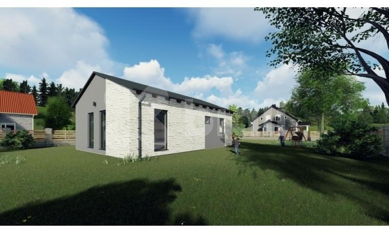 Prodej, rodinný dům na klíč 3+kk, 67 m2, pozemek 822 m2, Stanovice