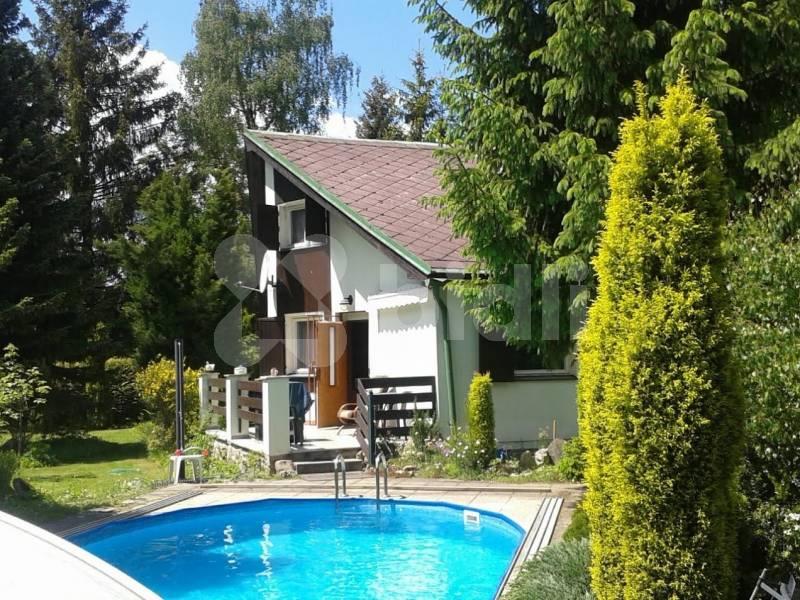 Prodej, rekreační nemovitost, zděná chata 40 m2,
